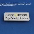 grandoptical naambadge aluminium magneet logo en naam © repko sneek