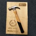 Regts-jubileum-45-jaar-michiel-gols-geschenk-hamer-plank-laser-gravure-hout-repko-sneek