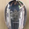 zilveren geboortelepel met familie wapen by repko sneek